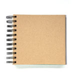 Recycled paper notebook front cover Stock Images