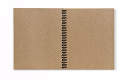 Recycled paper notebook front cover isolate Royalty Free Stock Images