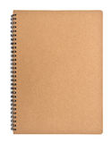 Recycled paper notebook front cover royalty free stock images