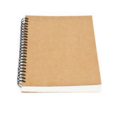 Recycled paper notebook front cover isolated Royalty Free Stock Images