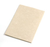 Recycled paper notebook front cover Stock Photography