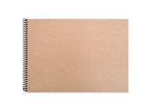 Recycled paper notebook front cover Stock Photos