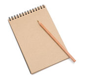 Recycled paper notebook Royalty Free Stock Photo