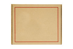 Recycled paper packaging box with red lining frame Royalty Free Stock Image