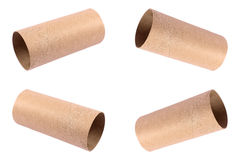 recycled paper roll isolated on white Royalty Free Stock Images