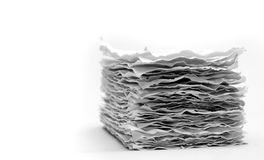 Recycled paper. Series. On white background Stock Photography