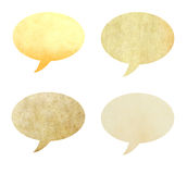 Recycled paper shape as speech bubble isolated Royalty Free Stock Image