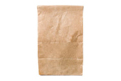 Recycled paper shopping bag isolated on white Stock Photo