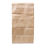 Recycled paper shopping bag isolated on white Royalty Free Stock Photo