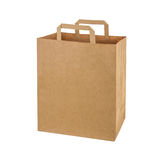 Recycled paper shopping bag Royalty Free Stock Images