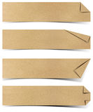 Recycled paper tag. Craft stick on white background stock illustration