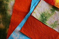 Recycled paper texture. Mixed colors pieces Royalty Free Stock Photography