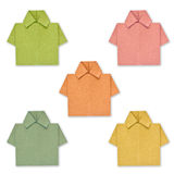 Recycled paper to create a color shirt. Royalty Free Stock Photography