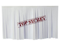 Recycled paper with top secret sign Stock Image