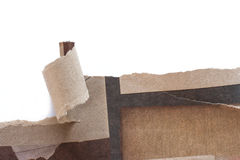 Recycled paper was torn a strip. Royalty Free Stock Image