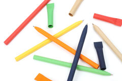 Recycled  pens Royalty Free Stock Photos