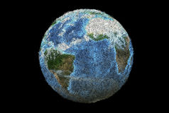 Recycled planet (CG3D) Royalty Free Stock Image