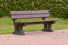 Recycled plastic bench Stock Photos
