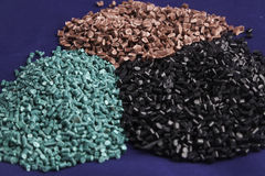 Recycled plastic polymers Royalty Free Stock Image