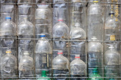 Recycled plastic water bottles Royalty Free Stock Photography