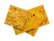 Recycled plywood isolated Royalty Free Stock Image