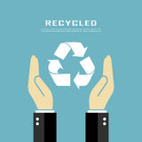 Recycled poster Stock Photography