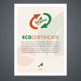 Recycled product or eco certificate Stock Images