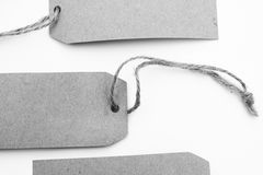 Recycled retro paper blank tags Stock Images