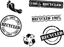 Recycled Rubber Stamps Stock Images