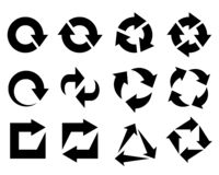 Arrows as symbols recycled element vector illustration