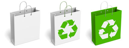 Recycled Shopping Bags Royalty Free Stock Photography