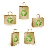 Recycled shopping bags Stock Images