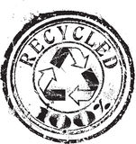 Recycled stamp Stock Photography