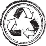 Recycled stamp. Abstract grunge rubber stamp for your design Stock Photo