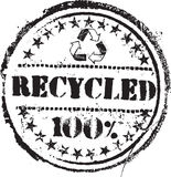 Recycled stamp Royalty Free Stock Photo