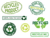 Recycled stamps, more in my portfolio. Stock Images