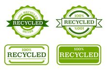 Recycled stamps Royalty Free Stock Photos