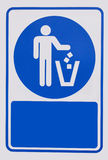 Recycled symbol over blue and white background. Man throwing tra. Recycled symbol over white background. Man throwing trash into dust bin. Keep clean Royalty Free Stock Images