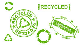 recycled symbols and stamps Royalty Free Stock Images