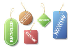 Recycled Tags Royalty Free Stock Images