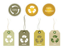 Recycled Tags Stock Image