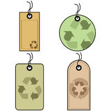 Recycled tags Royalty Free Stock Photography