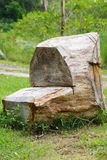 Recycled Timber log Stock Image