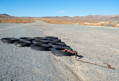 Recycled tires Stock Images