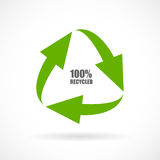 Recycled vector icon. Recycled materials vector arrows icon Royalty Free Stock Image