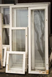 Recycled Window Frames Royalty Free Stock Images