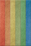Recycled wood. Six color vertical wood recycling Royalty Free Stock Images