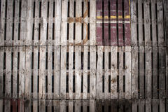 Recycled wooden pallets wall Royalty Free Stock Photo