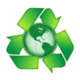 Recycleer aarde Royalty-vrije Stock Afbeelding