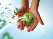 Recycleer aarde Stock Fotografie